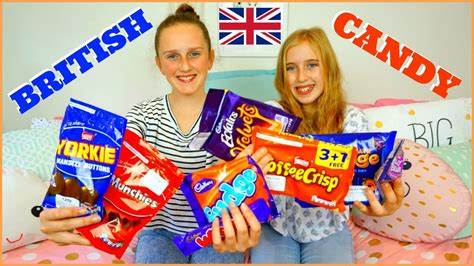TRYING BRITISH CANDY - British Sweets Taste Test - YouTube