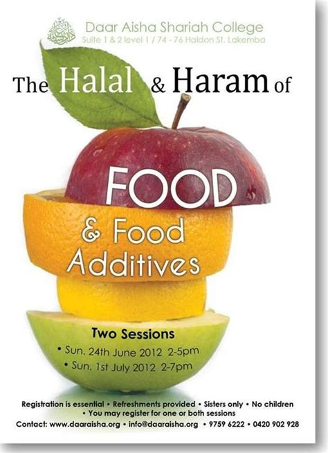 June 24 2012 - SYD – The Halal and Haram of Food and Food