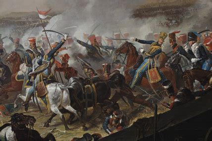 A detail from the painting: BATTLE OF WATERLOO by Denis