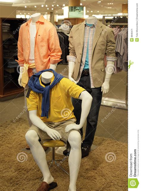 Mannequins at the mall stock image