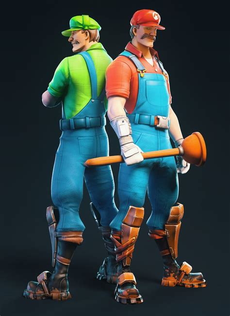 Mario and Luigi in Fortnite? Awesome fan-made skin concept