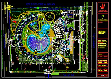 Tourist Hotel and Resort 2D DWG Design Block for AutoCAD