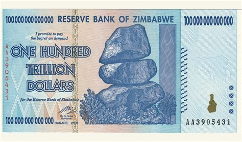 What can you buy for $100 trillion in Zimbabwe? Not even a