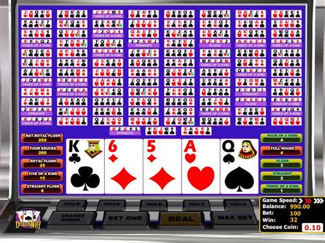 Play Multihand Deuces Wild Video Poker from BetSoft for Free