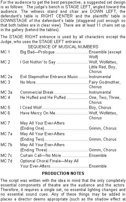 Fairy tale Courtroom Musical